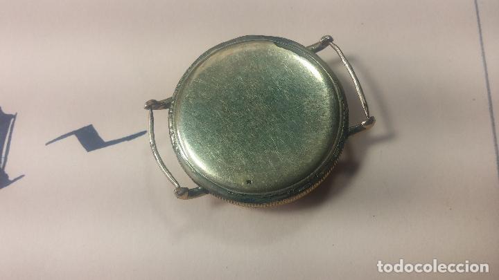 Recambios de relojes: Botita caja de reloj antiguo chapada en oro de 20M, con pasadores fijos, muy botita - Foto 18 - 117389783