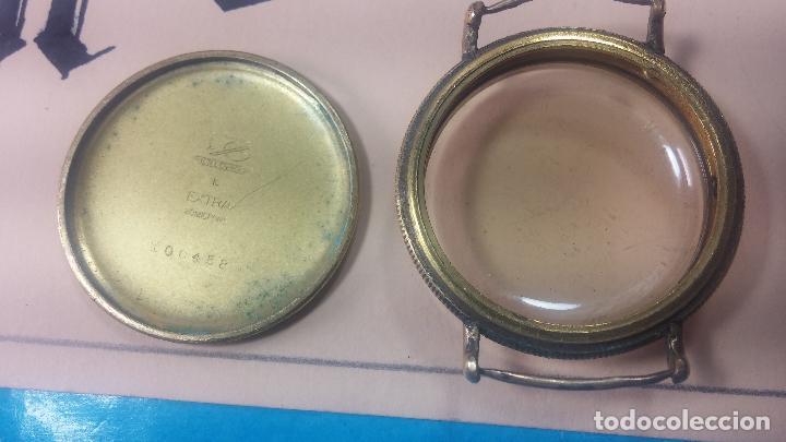 Recambios de relojes: Botita caja de reloj antiguo chapada en oro de 20M, con pasadores fijos, muy botita - Foto 22 - 117389783