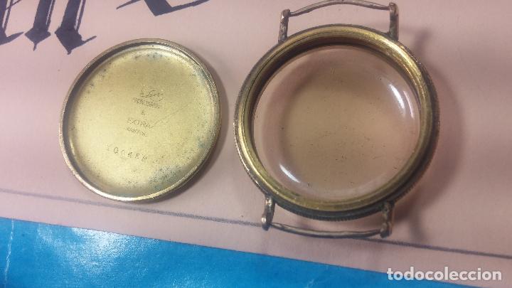 Recambios de relojes: Botita caja de reloj antiguo chapada en oro de 20M, con pasadores fijos, muy botita - Foto 23 - 117389783