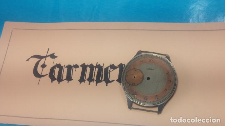 Recambios de relojes: Partes reloj VULCAIN, muy antiguas, esfera muy grande bicolor y caja con pasadores fijos - Foto 3 - 117391087