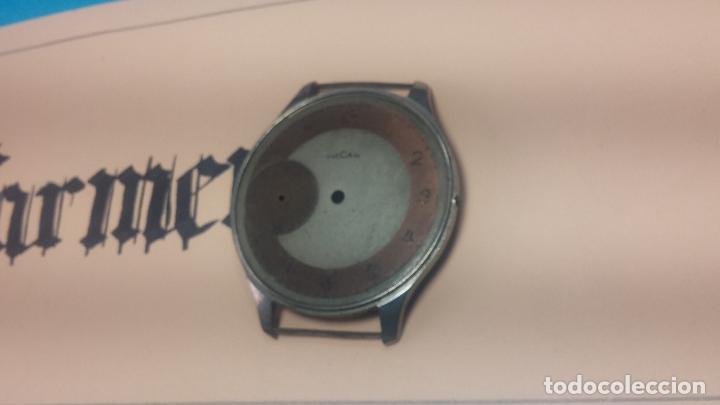 Recambios de relojes: Partes reloj VULCAIN, muy antiguas, esfera muy grande bicolor y caja con pasadores fijos - Foto 6 - 117391087