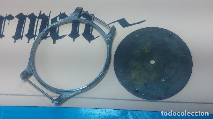 Recambios de relojes: Partes reloj VULCAIN, muy antiguas, esfera muy grande bicolor y caja con pasadores fijos - Foto 17 - 117391087