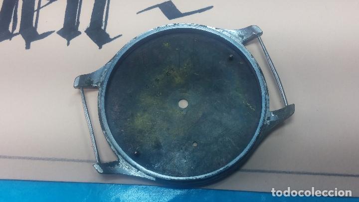Recambios de relojes: Partes reloj VULCAIN, muy antiguas, esfera muy grande bicolor y caja con pasadores fijos - Foto 19 - 117391087