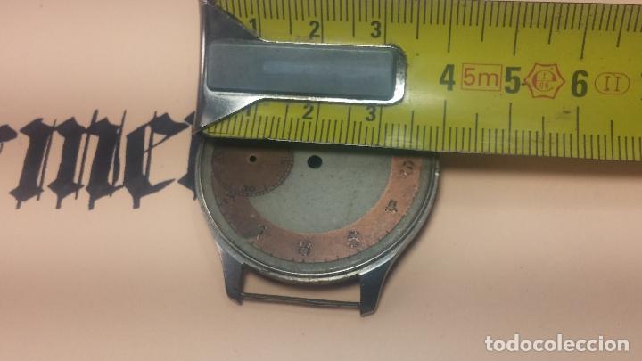 Recambios de relojes: Partes reloj VULCAIN, muy antiguas, esfera muy grande bicolor y caja con pasadores fijos - Foto 29 - 117391087
