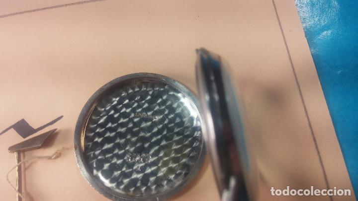 Recambios de relojes: Caja de reloj de caballero Longines, con su cristal, tapa, las patas de cogidas están despegadas - Foto 8 - 117396503