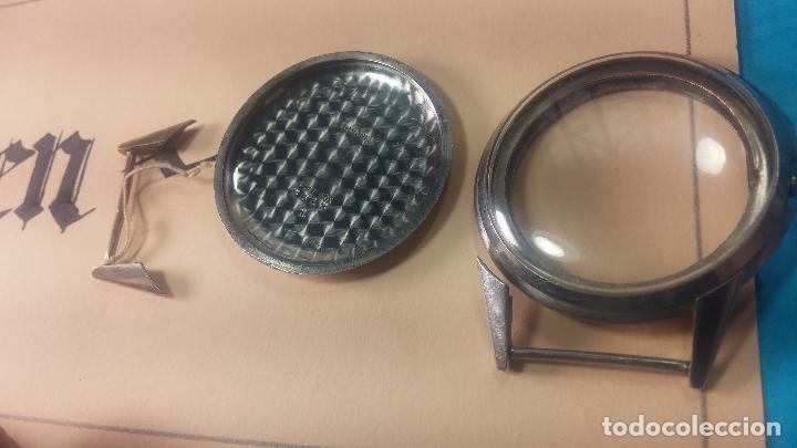 Recambios de relojes: Caja de reloj de caballero Longines, con su cristal, tapa, las patas de cogidas están despegadas - Foto 10 - 117396503