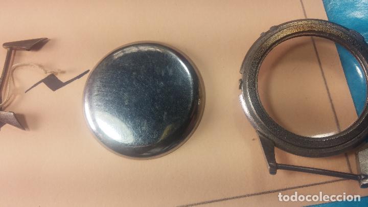 Recambios de relojes: Caja de reloj de caballero Longines, con su cristal, tapa, las patas de cogidas están despegadas - Foto 12 - 117396503
