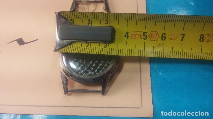 Recambios de relojes: Caja de reloj de caballero Longines, con su cristal, tapa, las patas de cogidas están despegadas - Foto 18 - 117396503