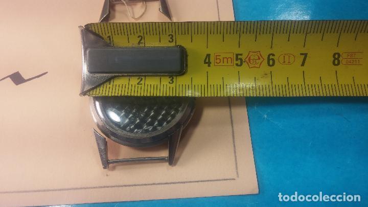 Recambios de relojes: Caja de reloj de caballero Longines, con su cristal, tapa, las patas de cogidas están despegadas - Foto 19 - 117396503