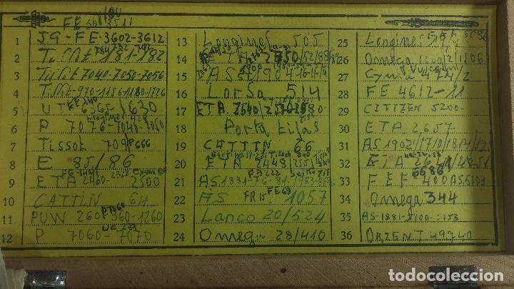 Recambios de relojes: GIGANTE ENORME lote de tijas, enorme, casi todos los botecitos llenos a rebosar, completisimo - Foto 37 - 117399731