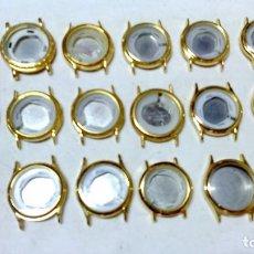 Recambios de relojes: LOTE 18 CARCASAS NUEVAS RELOJ QUARTZ. JAPAN MOVT. VER DESCRIPCIÓN.. Lote 117605291