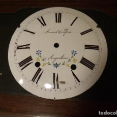 Recambios de relojes: ANTIGUA ESFERA PARA RELOJ MOREZ DE PESAS- AÑO 1880- Nº1. Lote 117625943