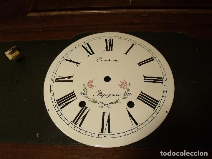 ANTIGUA ESFERA PARA RELOJ MOREZ DE PESAS- AÑO 1880- Nº3 (Relojes - Recambios)