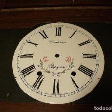 Recambios de relojes: ANTIGUA ESFERA PARA RELOJ MOREZ DE PESAS- AÑO 1880- Nº3. Lote 117626083
