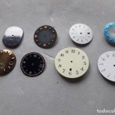 Recambios de relojes: LOTE DE 8 ESFERAS DE RELOJ ANTIGUAS.. Lote 118057651