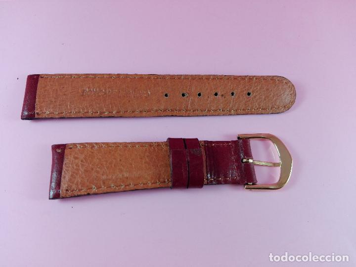 Recambios de relojes: 38-correa-reloj-piel boxcalf(vacuno)-castaño-20 mm-nos-ver fotos - Foto 3 - 118406327