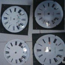 Recambios de relojes: 4 ESFERAS PARA RELOJ MOREZ. Lote 118425683
