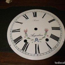Recambios de relojes: ESFERA DE PORCELANA PARA RELOJ MOREZ DE PESAS- LOTE 3. Lote 118930379