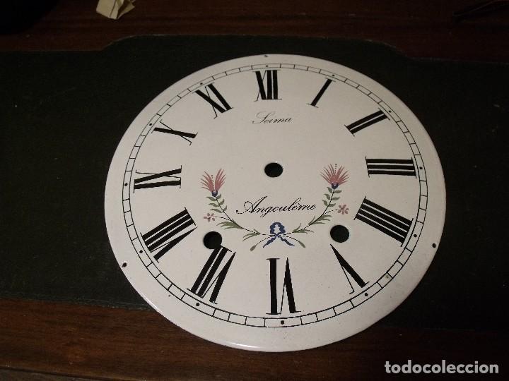 ESFERA DE PORCELANA PARA RELOJ MOREZ DE PESAS- LOTE 3 (Relojes - Recambios)