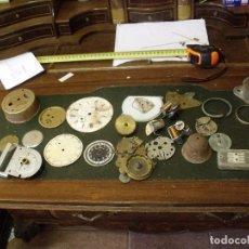 Recambios de relojes: GRAN LOTE - PIEZAS ANTIGUAS PARA RELOJES ANTIGUOS- LOTE 100. Lote 119960691