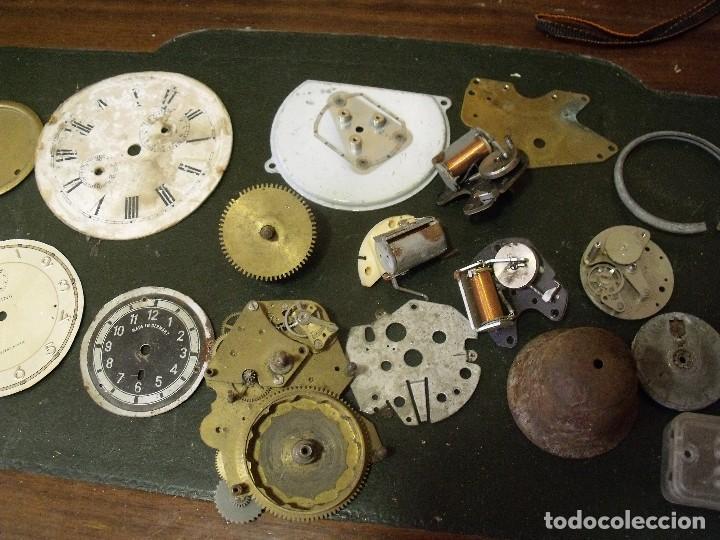 Recambios de relojes: GRAN LOTE - piezas antiguas para relojes antiguos- lote 100 - Foto 3 - 119960691