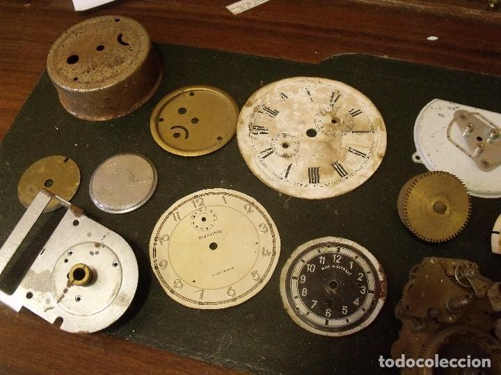Recambios de relojes: GRAN LOTE - piezas antiguas para relojes antiguos- lote 100 - Foto 7 - 119960691