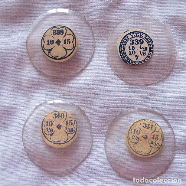 Recambios de relojes: LOTE Nº 4 DE 12 CRISTALES DE RELOJ DE BOLSILLO ANTIGUOS 330 AL 341 - Foto 2 - 119987339