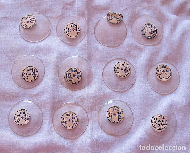 LOTE Nº 6 DE 12 CRISTALES DE RELOJ DE BOLSILLO ANTIGUOS 365 (Relojes - Recambios)