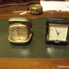 Recambios de relojes: 2 DESPERTADORES DE PETACA DELTA Y KAISER- LOTE 102. Lote 120352707