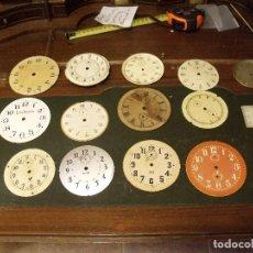Peças de reposição de relógios: 15 ESFERAS ANTIGUAS DE DESPERTADOR- LOTE 106. Lote 120833195