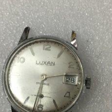 Recambios de relojes: RELOJ LUXAN CARGA MANUAL VINTAGE CALENDARIO. Lote 121805510