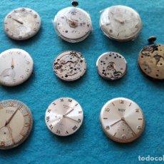 Recambios de relojes: LOTE DE 10 MÁQUINAS PARA RELOJES MECÁNICOS DE CABALLERO. Lote 121898975