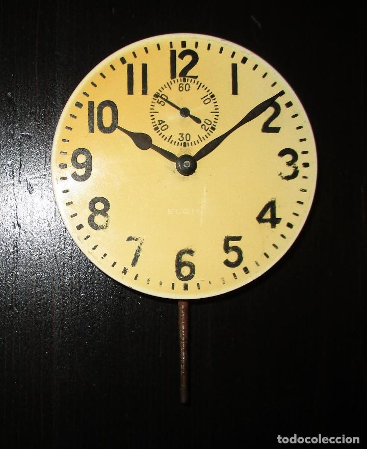 MAQUINARIA DE RELOJ ELGIN 8 DAYS DE TABLERO DE AUTO CLÁSICO. ORIGINAL DE 1925. (Relojes - Recambios)