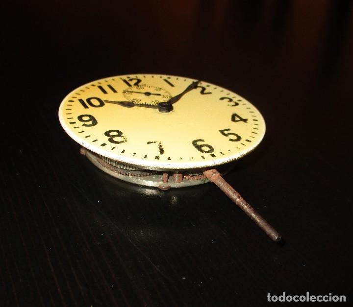 Recambios de relojes: MAQUINARIA DE RELOJ ELGIN 8 DAYS DE TABLERO DE AUTO CLÁSICO. ORIGINAL DE 1925. - Foto 2 - 121914311