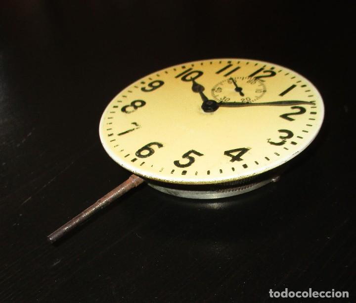 Recambios de relojes: MAQUINARIA DE RELOJ ELGIN 8 DAYS DE TABLERO DE AUTO CLÁSICO. ORIGINAL DE 1925. - Foto 3 - 121914311