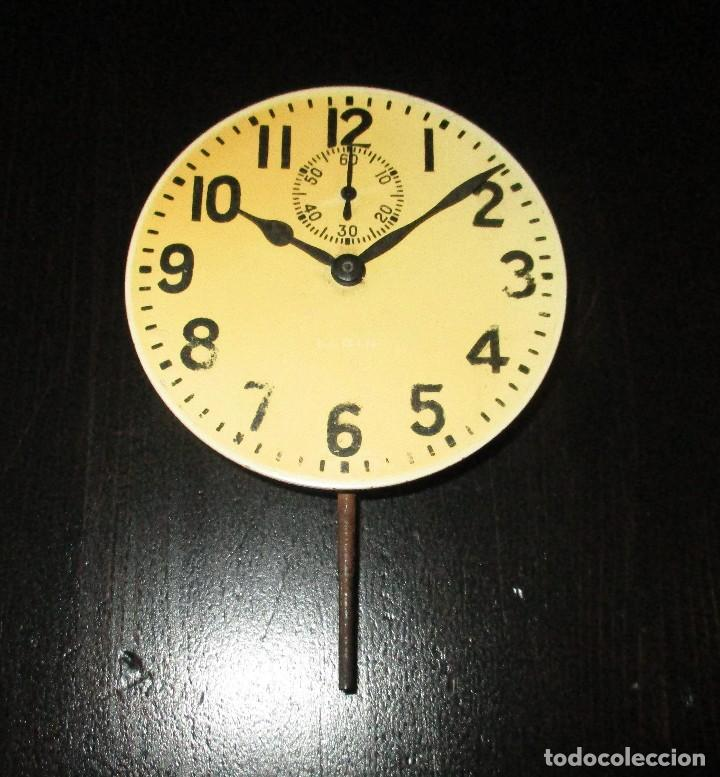 Recambios de relojes: MAQUINARIA DE RELOJ ELGIN 8 DAYS DE TABLERO DE AUTO CLÁSICO. ORIGINAL DE 1925. - Foto 6 - 121914311