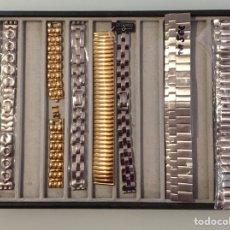 Recambios de relojes: LOTE DE CORREAS DE METAL PARA RELOJES. Lote 122571951