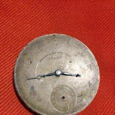 Recambios de relojes: ANTIGUA MAQUINARIA RELOJ DE BOLSILLO CARGA MANUAL MARCA ANCRE DE LOS AÑOS 20-30. Lote 123532507