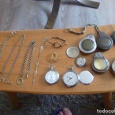 Recambios de relojes: DIVERSAS PIEZAS DE RELOJES DE BOLSILLO- LOTE 122. Lote 125833339