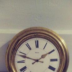Recambios de relojes: RELOJ MALCAR DE PARED CIRCULAR PARA REPARAR. Lote 126246523