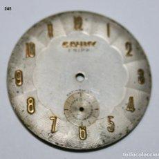 Recambios de relojes: ESFERA DE RELOJ CAUNY - 348 Ø. Lote 126325379