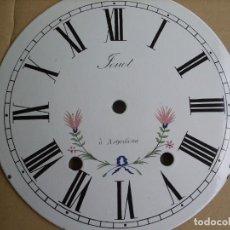 Recambios de relojes: ESFERA DE PORCELANA PARA RELOJ MOREZ DE PESAS- LOTE 4. Lote 126452591
