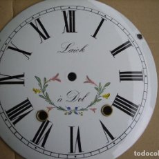 Recambios de relojes: ESFERA DE PORCELANA PARA RELOJ MOREZ DE PESAS- LOTE 4. Lote 126453051
