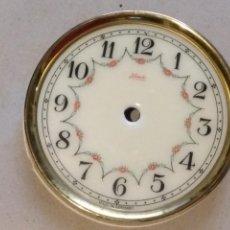 Recambios de relojes: REPUESTO ESFERA ESMALTADA SOPORTE RELOJ 400 DÍAS, SCHANTZ, KUNDO, MINIKUNDO,ETC. VER FOTO DEL MODELO. Lote 126752255