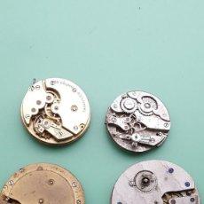 Recambios de relojes: 4-MOVIMIENTOS-RELOJ-DE-BOLSILLO-PARTES-REPARAR-PIEZAS. Lote 127087923