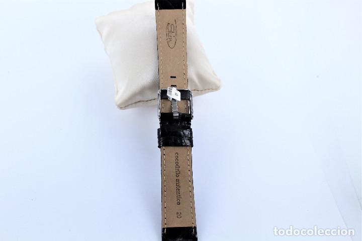 Recambios de relojes: CORREA DE PIEL DE COCODRILO NEGRA 20 MM - Foto 3 - 127191311