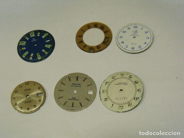 6 ESFERAS PARA RELOJES DE PULSERA- LOTE 123 (Relojes - Recambios)