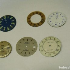 Recambios de relojes: 6 ESFERAS PARA RELOJES DE PULSERA- LOTE 123. Lote 127795355