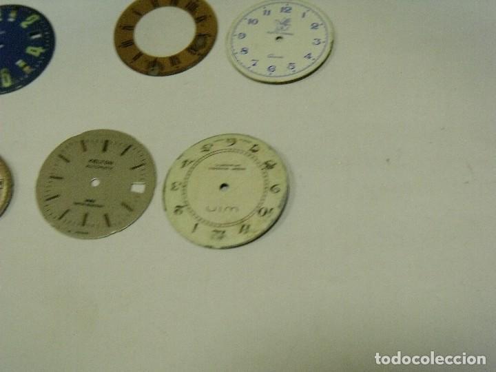 Recambios de relojes: 6 esferas para relojes de pulsera- lote 123 - Foto 2 - 127795355