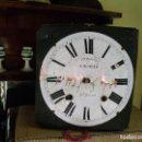 Recambios de relojes: ANTIGUA MAQUINARIA MOREZ DE PESAS - PARA RESTAURAR O PIEZAS- AÑO 1870-. Lote 128380995